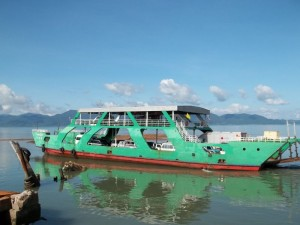 Centrepoint vehicle ferry moored on Koh Chang